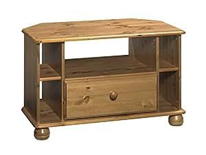 massiv holz tv hifi schrank eckschrank fernsehschrank phonoschrank antik look k che. Black Bedroom Furniture Sets. Home Design Ideas