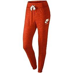 Nike Gym Vintage–Pantalón de deporte Rojo Crimson/Weiß Talla:M