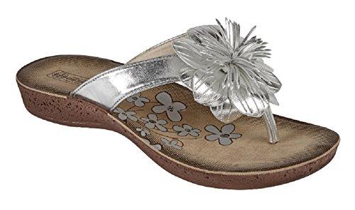 Koo-T - Sandalo infradito donna Silver