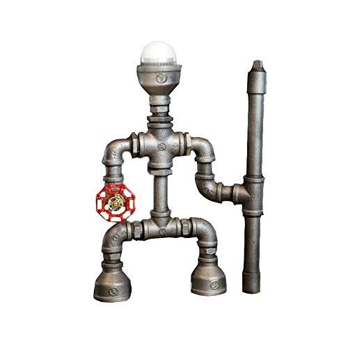 Nomi Retro Wasserpfeife Roboter Tischlampe Kreative Kreative Dekorative Ornamente Geeignet Für Bars Cafe (Mit 3wLED Birne),whitelight