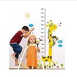 HAJKSDS Wandtattoos Wandbilder Kinder Messlatte Wandaufkleber Wohnkultur Cartoon Giraffe Höhenlehre Dekoration Zimmer Aufkleber Wandkunst Aufkleber Tapete