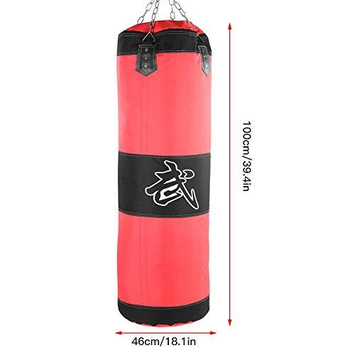 da 1,2 m o 1,5 m Ultra Fitness Sacco da boxe heavy bag imbottito per allenamento fitness con catena in acciaio