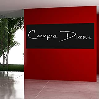 casa pura Self Adhesive Blackboard Wall Sticker Contact Paper | 60x300cm | Available in 2 Colours (Black) | Residue Free
