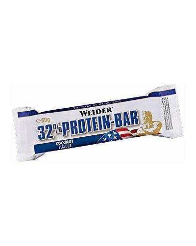 Weider 32{f2929b2d45cd60d53a727c3369e862aea83ffa5a2bafe039b990a92b7506dcba} Protein Bar, Gusto Cocco - Barretta da 60G