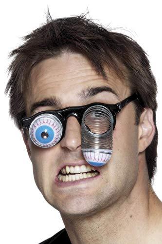 Brille Scary Kostüm Mit - Smiffys Unisex Brille mit hängenden Augen, 00380