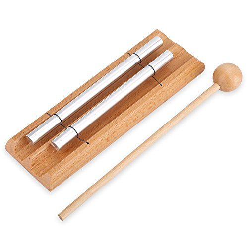 Meditations-Chime mit Klammer, 2 Ton Perkussionsinstrument, Musical Education-Spielzeug