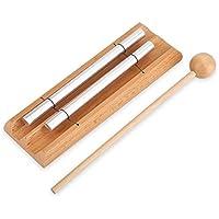 Dilwe 2 Tonos Instrumento de Percusión con Mazo Juguete de Educación Musical para Niños