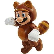 Nintendo - Figura Tanooki Mario Con Coin, 10 cm