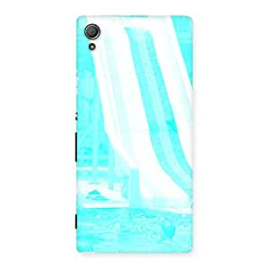 Delighted Ride Cyan White Back Case Cover for Xperia Z4