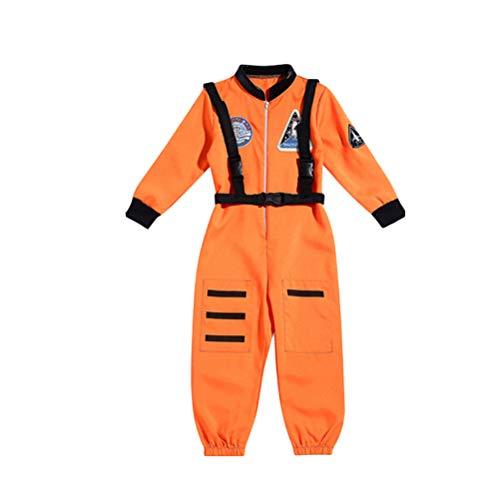 TENDYCOCO Astronaut Overall Halloween Astronaut Kostüm Cosplay Kostüm für Baby Kinder Jungen - XL (Orange)
