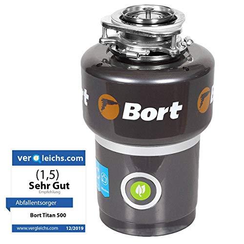 Dissipatore di rifiuti bort titan 5000. 1400 ml, 560 w, 0,75 cv, protezione da surriscaldamento, sovratensione e sovraccarico, protezione dal rumore, spegnimento automatico, alte prestazioni.