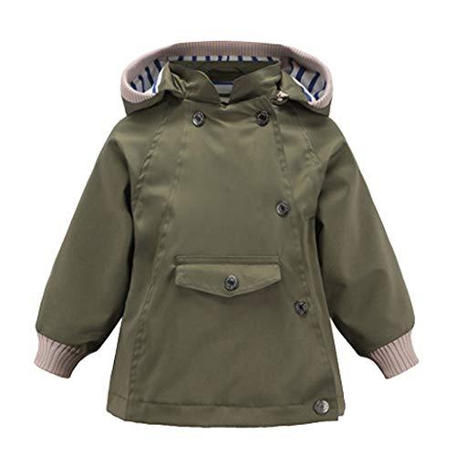 Sanahy Kinder Jungen Und Mädchen Herbst Winter Mode Verdicken Mit Kapuze Windjacke Langarm Reißverschluss Freizeitjacken Mäntel mit Taschen