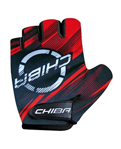 Chiba Kids Kinder Fahrrad Handschuhe kurz rot/grau 2017: Größe: L ()