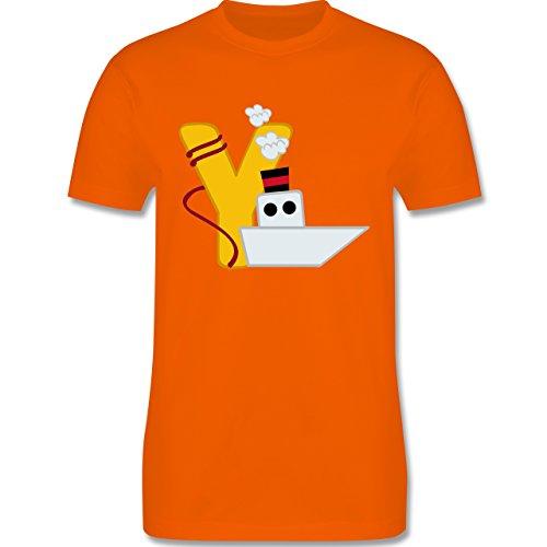 Anfangsbuchstaben - Y Schifffahrt - Herren Premium T-Shirt Orange
