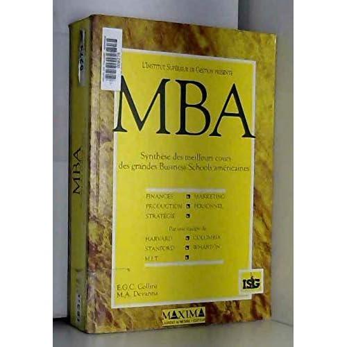 MBA : synthèse des meilleurs cours des grandes Business Schools américaines