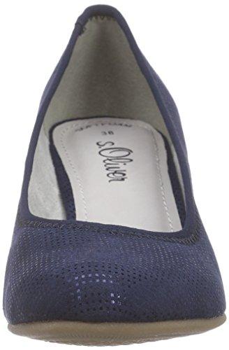 s.Oliver 22417, Chaussures à talons - Avant du pieds couvert femme Bleu - Bleu (NAVY 805)