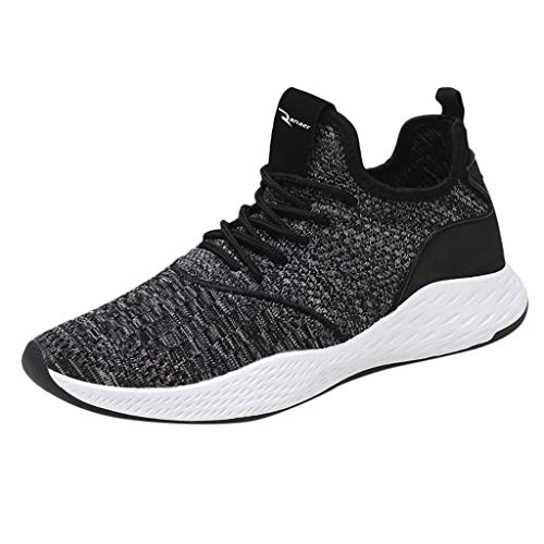 AIni Herren Schuhe Beiläufiges Mode 2019 Neuer Heißer Sportschuhe Outdoor Wanderschuhe Sneakers Mesh Solid Schuhe Freizeitschuhe Partyschuhe (41,Grau)