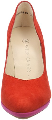 Peter Kaiser HERDI, Scarpe Col Tacco con Plateau Donna Rot (Brasil Suede Berry Suede)
