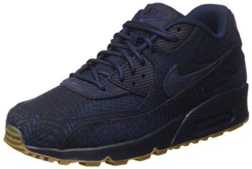 Nike Men's Air Max 90 Premium Jcrd Gymnastics Shoes, Blue (Indigo/Obsidian/Obsidian/Armory Navy),...