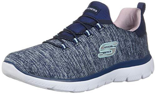Skechers Summits-Quick Getaway, Zapatillas para Mujer, Azul, 37 EU