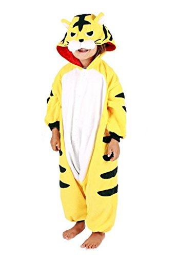 BRLMALL Unisex Children Tiger Pyjamas Halloween Onesie Costume