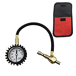 2 in 1 Professional Tyre Deflator Pressure Gauge 75Psi with Special Chuck for 4X4 Large Offroad Tires …