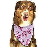 Sciarpa per Animali Domestici Macabre Dread Damask Livid Purple Bandana Triangle Bibs Scarfs Accessories for Pet Cats And Puppies