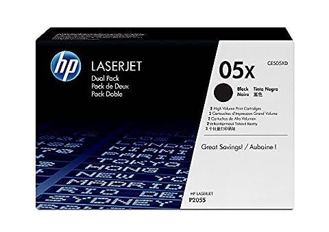 HP 05X 2-pack High Yield Black Original LaserJet Toner Cartridges (CE505XD)