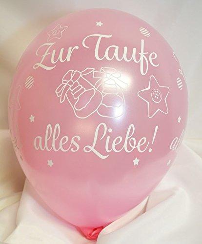 Unbekannt Luftballons Zur Taufe Alles Liebe rosa Qualatex, ca. 30 cm, 5 St.