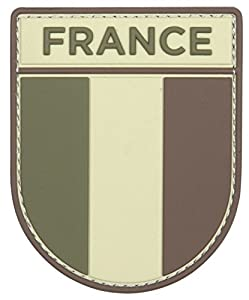Patch Ecusson 3d Pvc Scratch Armee Francaise Drapeau Camouflage Kza-e-d-1011 /444130-5534 Airsoft