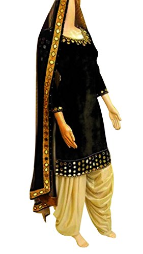 Diwali and New Year New Arrival Punjabi Patiala Style Suits for Young lady and Womens Sold By Aaron Fashion (Black)