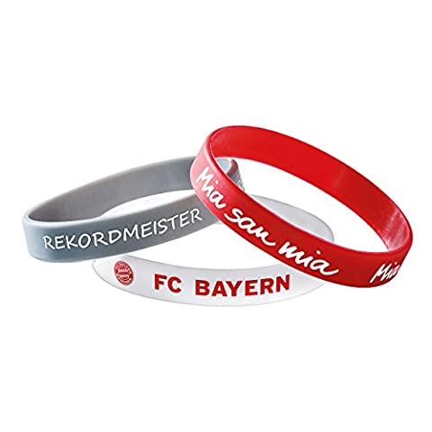 Armband 3er Set FC Bayern München FCB + gratis Aufkleber, bracelet, pulsera, bransoletka