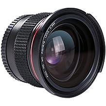 58MM Fisheye - [Ultra Claro] Beschoi Lente de 0.35X Ojo de Pez de Ángulo Ancho Objetivo Lente Marco con Azul Recubiertos con Película para Nikon Canon Cámara Reflex
