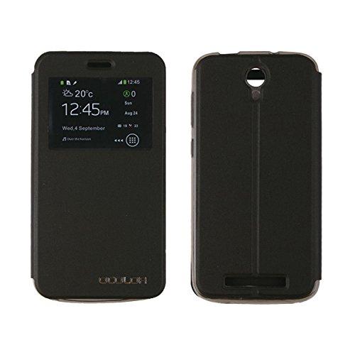 Guran® PU Leder Tasche Etui für DOOGEE Valencia2 Y100 Plus (5.5 Zoll) Smartphone Flip Cover Stand Hülle Case-schwarz