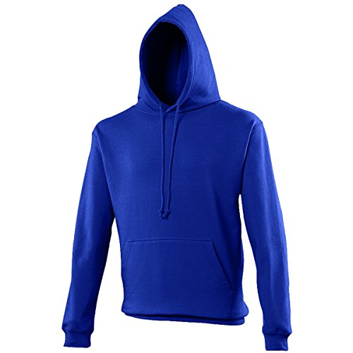 College hoodie Royal Blue AWDis Hoods Streetwear Felpa Cappuccio Uomo Royal Blue