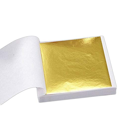 SKAISK Blattgold Folienaufkleber Universal 100PCS Golden Design Frame