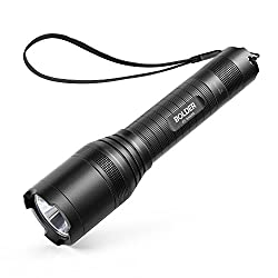 Anker LC90 LED flashlight, IP65 waterproof, super bright 900 lumens CREE LED, 5 light modes, pocket-size rechargeable flashlight with zoom for camping (including 18650 battery)