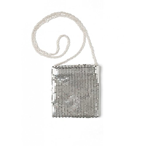 Preisvergleich Produktbild Handtasche Pailletten,  Silber