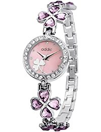 Addic Delicate Petals Pink Stone Studded Girls & Women's Watch