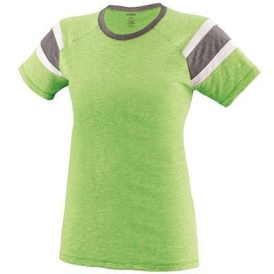 Augusta Sportswear Girls Fanatic Tee S Lime/Slate/White -