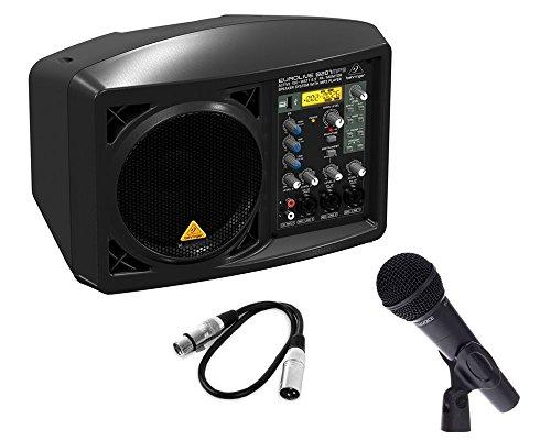 Kit Karaoke / Conferenza Diffusore BEHRINGER B207mp3 con Microfono Dinamico / Cavo Audio / Bundle