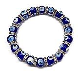 Mystic Jewels By Dalia Mal des Auges Armband mit Zirkoniasteinen - Türkisches Auge Blau Klassisch - 18 Charms