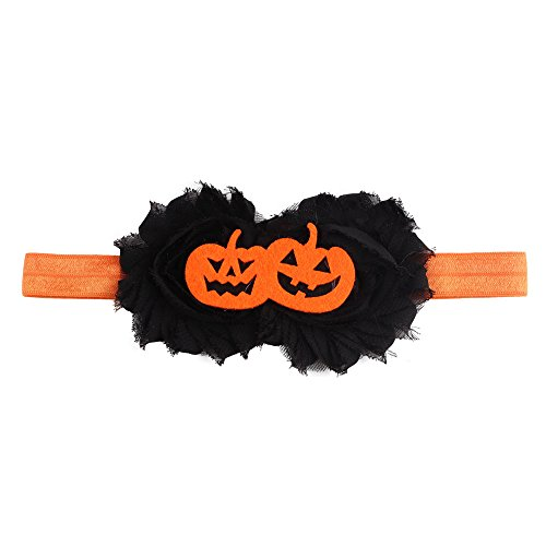 TOPGKD beliebt Halloween Headwear Mädchen Säuglingshaarband Niedliche Stirnbänder Blumenzubehör DIns umsatzstark (D)