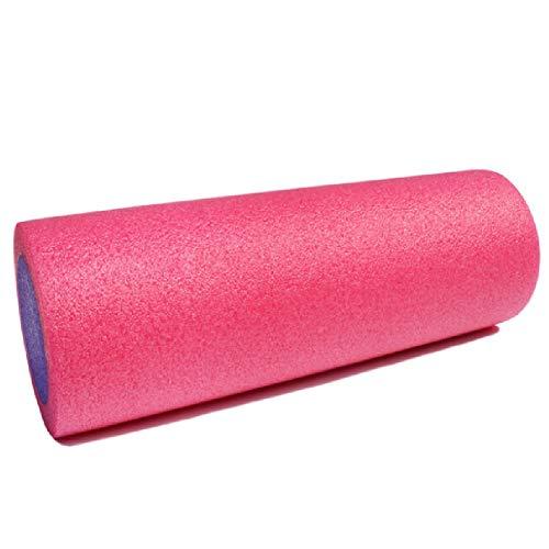 Aoacd rullo muscolare 45cm lungo medio-duro liscio roller perfetto automassaggio strumento per la casa, palestra, pilates, yoga,pink