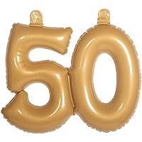 suchergebnis auf f r goldene zahl luftballons dekorationen spielzeug. Black Bedroom Furniture Sets. Home Design Ideas
