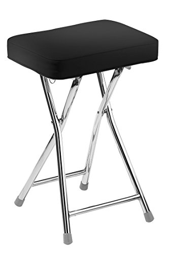 premier-housewares-rectangle-shaped-folding-stool-with-chrome-frame-49-x-35-x-24-cm-black