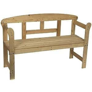 Spetebo - Panca da giardino in legno massiccio di abete naturale