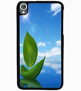 ColourCraft Creative Leafs Design Back Case Cover for HTC DESIRE 820