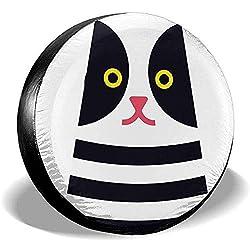Dem Boswell Geometric Cute Cat Reserveradabdeckung Wasserdicht Staubdicht Universal Reserveradabdeckung 15 Zoll
