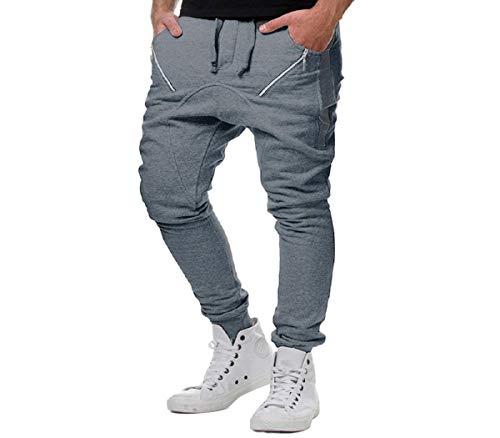 Manadlian Herren Sport/Jogging-Hose Lang Club Pants Sporthosen Männer Hose Mit Reißverschluss Präsentationshose Schwarz Weiß Streifen - Herren Lacoste Jeans